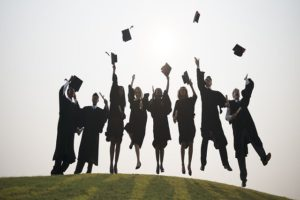 Young Students Graduation Ceremony Concept